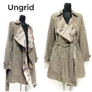 アングリッド(Ungrid)のアングリッド オルテガ ベルト付き コート S アウター 茶色 レディース(ロングコート)