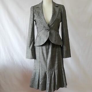 SunaUna - 美品スーナウーナ、ツイードフレアースカート、セットアップスーツ、サイズM、L。