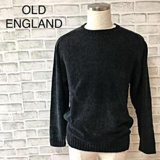 【未使用タグ付】オールドイングランド クールネック ニットセーター ブラック