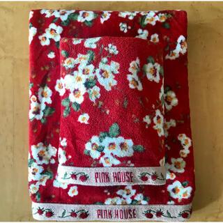 ピンクハウス(PINK HOUSE)のピンクハウス バスタオル フェイスタオル セット 日本製(タオル/バス用品)