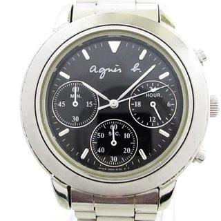 アニエスベー(agnes b.)のアニエスベー 腕時計 V654-6100 メンズ 黒(その他)