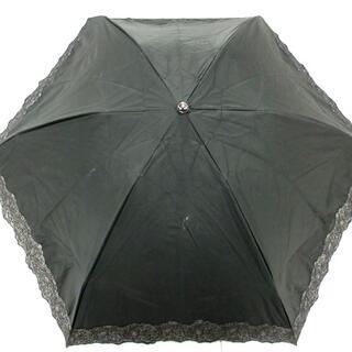 サンローラン(Saint Laurent)のイヴサンローラン 折りたたみ傘美品  - 黒(傘)