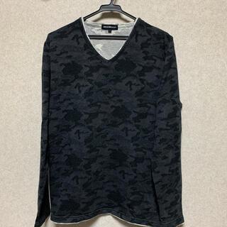 セマンティックデザイン(semantic design)のロンT Vネック 迷彩 L(Tシャツ/カットソー(七分/長袖))