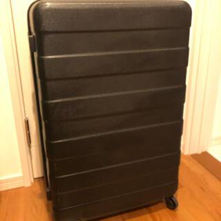 ムジルシリョウヒン(MUJI (無印良品))の無印 黒 キャリーケース ハードキャリー 85L(トラベルバッグ/スーツケース)