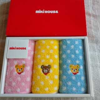 mikihouse - 未使用新品 ミキハウス ミニタオル3枚セット