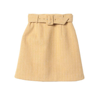 eimy istoire - eimy ♡カラーヘリンボーンミニスカート♡ MUSTARD