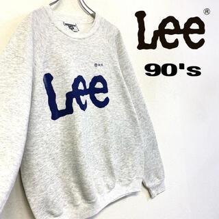 リー(Lee)の90's US製 Lee スウェット デカロゴ トレーナー メンズL霜降りグレー(スウェット)