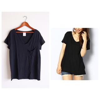ラヴィジュール(Ravijour)のRavijour ステッチルーズT 黒(Tシャツ(半袖/袖なし))