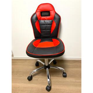 ニトリ(ニトリ)の専用 デスクチェア 昇降椅子 赤 黒(デスクチェア)
