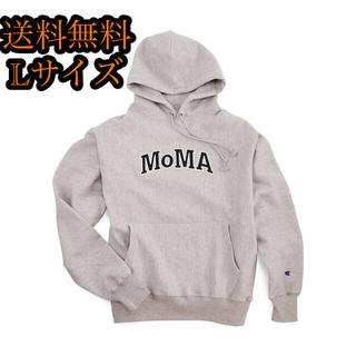 チャンピオン(Champion)のMoMA パーカー フーディー グレー 黒 白 モマ(パーカー)