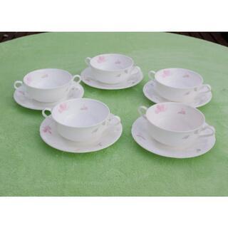 ニッコー(NIKKO)のNIKKO ファイン ボーンチャイナ スープカップ&ソーサー 5点セット(食器)