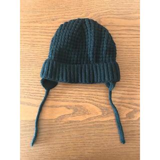 ザラキッズ(ZARA KIDS)のzara baby ニットキャップ 帽子 ブラック(帽子)