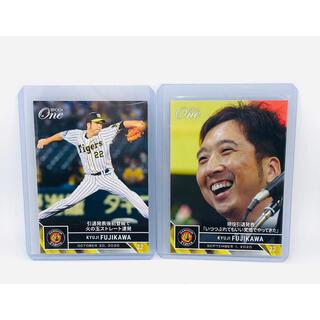 ハンシンタイガース(阪神タイガース)の藤川球児 阪神タイガース 引退記念 エポックワン 2枚セット(シングルカード)