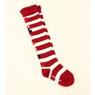Shirley Temple - シャーリーテンプル 靴下 ソックス トランプ ボーダー柄 ニーハイ 14cm