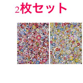村上隆 ポスター お花ドクロ 2枚セット(ポスター)