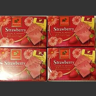 モリナガセイカ(森永製菓)の森永カレドショコラ ストロベリー 4箱(菓子/デザート)