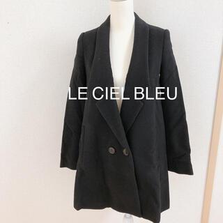ルシェルブルー(LE CIEL BLEU)のLE CIEL BLEU ルシェルブルー チェスターコート 黒 ブラック 冬物 (チェスターコート)