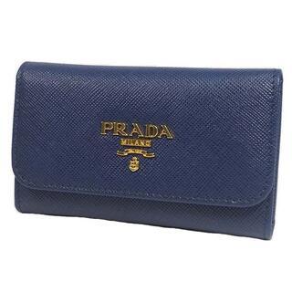 プラダ(PRADA)のPRADA 6連キーケース 1M0222 キーケース ブルー(コインケース)