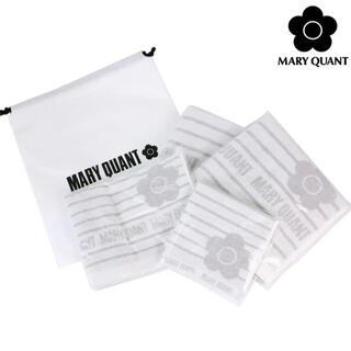 マリークワント(MARY QUANT)のマリークワント ストライプタオル4Pセット 今治タオル(タオル/バス用品)