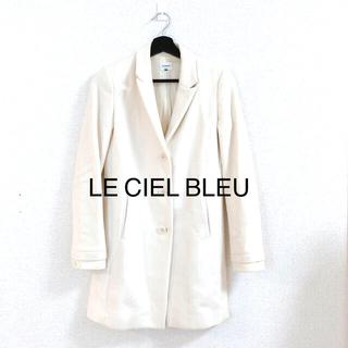 ルシェルブルー(LE CIEL BLEU)のLE CIEL BLEU ルシェルブルー コート アイボリー チェスターコート(チェスターコート)