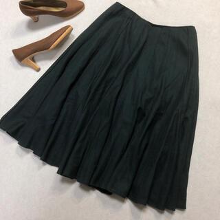 シビラ(Sybilla)のSybilla シビラ フレア スカート ギャザー グリーン L (ひざ丈スカート)