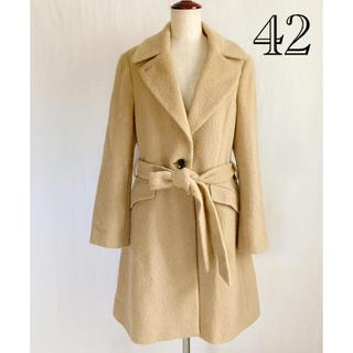 アンタイトル(UNTITLED)の美品 大きなサイズ アンタイトル アルパカ混の上質コート サイズ42(ロングコート)