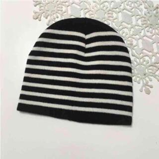 ザラキッズ(ZARA KIDS)のキッズ ニット帽 帽子 ボーダー  新品(帽子)