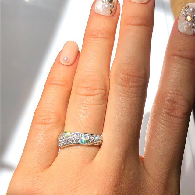 CHAUMET(ショーメ)のレア!ショーメ ヴェニス パヴェ ダイヤ モンド リング K18WG レディースのアクセサリー(リング(指輪))の商品写真