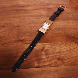 ケイトスペードニューヨーク(kate spade new york)のケイトスペード 腕時計  リボン エナメル 電池切れ 黒 ゴールド(腕時計)