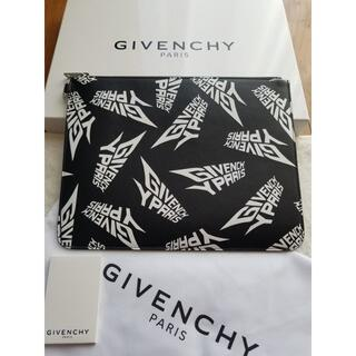 ジバンシィ(GIVENCHY)のGIVENCHY ジバンシー ロゴ プリント クラッチバッグ(セカンドバッグ/クラッチバッグ)