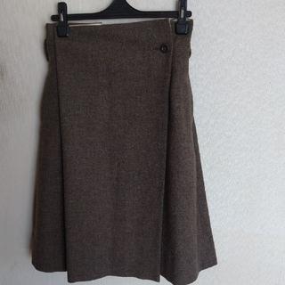 マーガレットハウエル(MARGARET HOWELL)の膝丈巻きスカート(ひざ丈スカート)