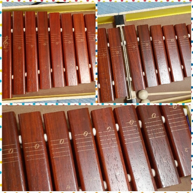 小学館(ショウガクカン)の全音 木琴 折り畳み式 ケース キッズ/ベビー/マタニティのおもちゃ(知育玩具)の商品写真