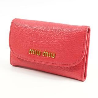 miumiu - MIUMIU 6連キーケース MADRAS 5M0222 山羊革 ピンク