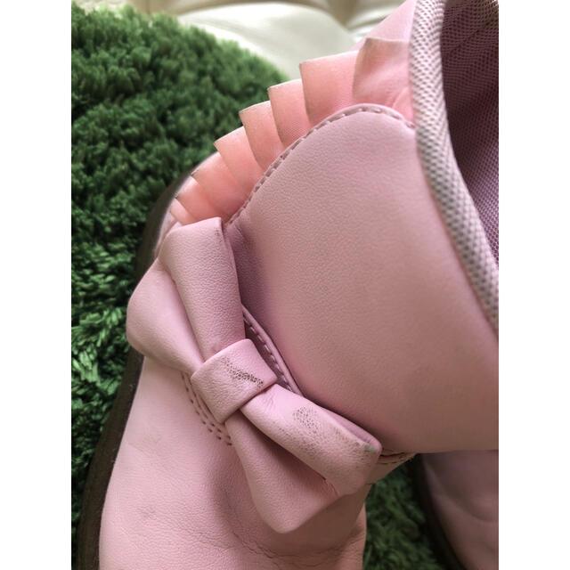 MOONSTAR (ムーンスター)のムーンスター moonstar carrot りぼんピンクブーツ 16cm 中古 キッズ/ベビー/マタニティのキッズ靴/シューズ(15cm~)(ブーツ)の商品写真