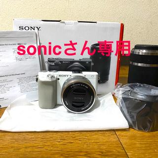 ソニー(SONY)の【sonicさん専用】【新品】SONY α6100 ダブルズームレンズキット(ミラーレス一眼)