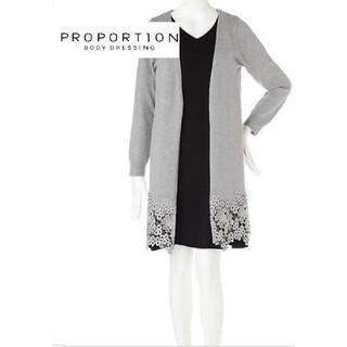 プロポーションボディドレッシング(PROPORTION BODY DRESSING)の裾フラワーレースロングカーディガン(カーディガン)