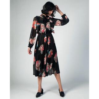 DOUBLE STANDARD CLOTHING - Sov. / ポリエステルシフォン Jeana original ワンピース
