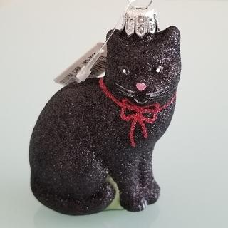 アッシュペーフランス(H.P.FRANCE)のアスティエ ASTIER de VILLATTE クリスマス オーナメント黒猫(置物)