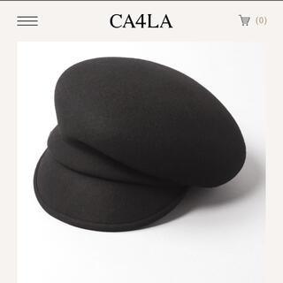 カシラ(CA4LA)のカシラca4ra  アシンメトリーウールキャスケット ALABASTER(キャスケット)