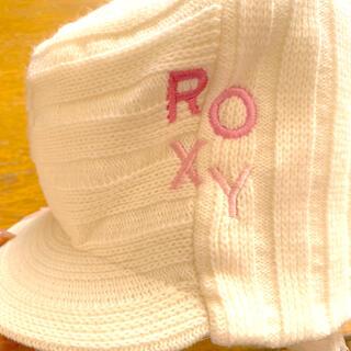 ロキシー(Roxy)のROXY ニットキャップ白(ニット帽/ビーニー)