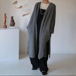 プラージュ(Plage)のargue YAK WOOL BLEND GOWN COAT/GRAY(ガウンコート)