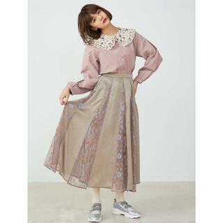 メリージェニー(merry jenny)の【merry jenny】Springレースコンビサテンスカート(ロングスカート)