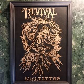ルードギャラリー(RUDE GALLERY)の「REVIVAL」A4サイズ 刺青 タトゥーフラッシュ(ミラー)
