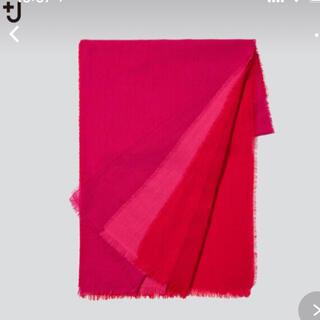 ジルサンダー(Jil Sander)の+J ウールストール pink ジルサンダー UNIQLO プラスジェイ(マフラー)