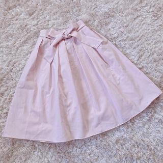 ハニーミーハニー(Honey mi Honey)の今週限定 pink ribbon skirt(ひざ丈スカート)