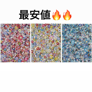 zingaro 村上隆 お花ドクロ 3枚セット ポスター(版画)