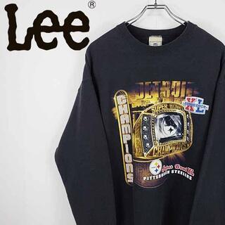 リー(Lee)の【90s 古着】Lee USA製 NFL スティーラーズ チームロゴ スウェット(スウェット)