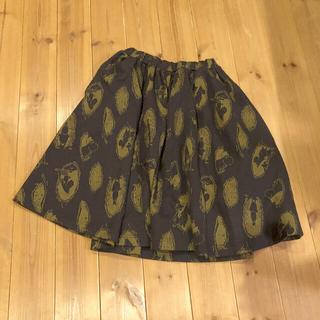 シロップ(syrup.)のフェリシモシロップ☆ムーミン柄の厚手スカート(ひざ丈スカート)