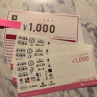 13000円 APカンパニー 株主優待券(レストラン/食事券)