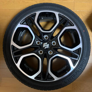 スズキ(スズキ)のスイフトスポーツzc33s純正タイヤホイール2本セットです。 (タイヤ・ホイールセット)